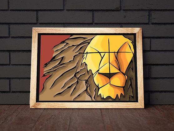 Tirage signé série WILD : LION
