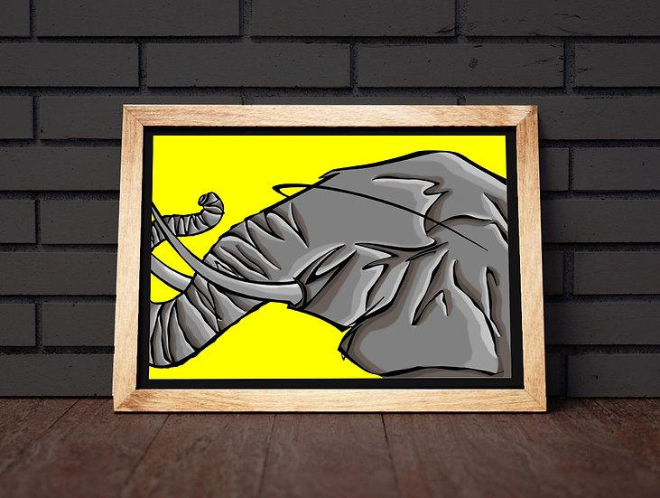 Tirage signé série WILD : ELEPHANT