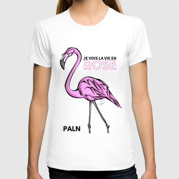 T SHIRT UNISEXE FLAMINGO