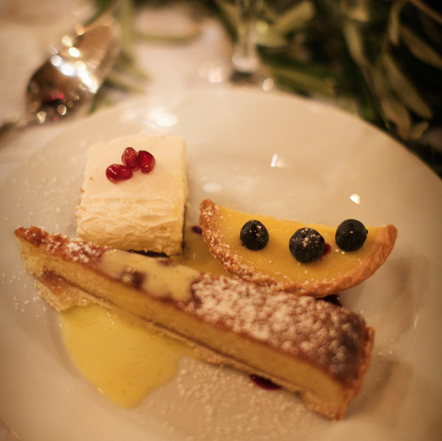 Trio of desserts by Julie Kim Photography