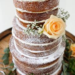 Gâteau de mariage semi-nu