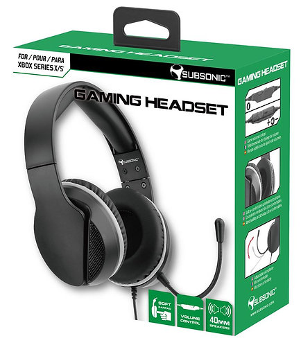 Subsonic Wired Gaming Headset With Microphone For Xbox Series X / S - Black