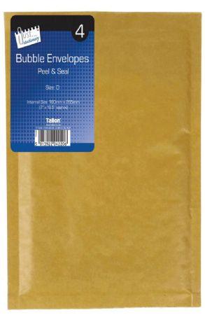 Just Stationery 8pk Bubble Padded Envelopes Size A