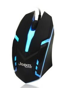 Jedel M66 7 Coloured Breathing LED USB Wired Gaming Mouse