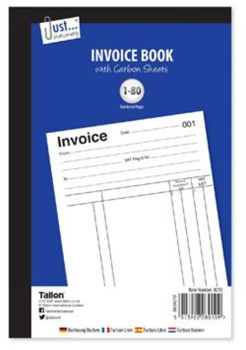 Just-Stationery Full Size Invoice Book