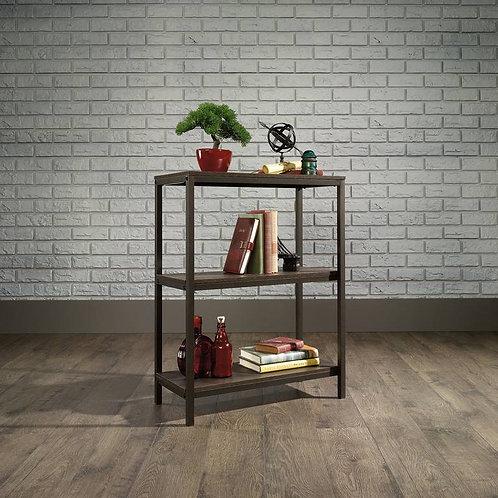 Teknik Office Industrial Style 2 Shelf Bookcase Smoked Oak with Black frame