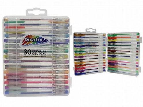 30 Assorted Gel Pens,