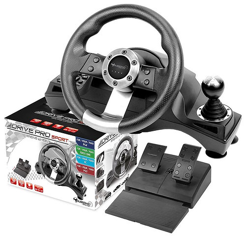 Subsonic Drive Pro Gaming Steering Wheel & Pedals For Playstation 3 / 4, PS3 / P