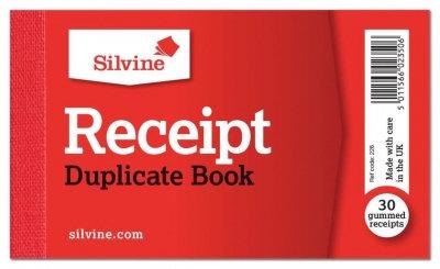 Silvine Cash Receipt Book Duplicate With Carbon 63mm x 106mm