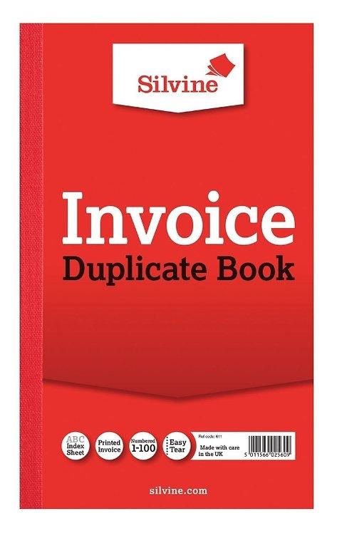 Silvine Invoice Duplicate Book 206mm x 127mm