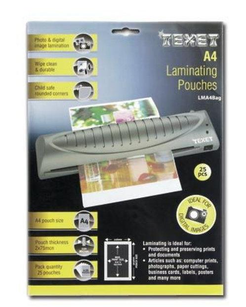 Texet A4 laminating Pouches 25pcs