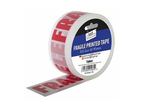 Just Stationery Fragile Printed Tape