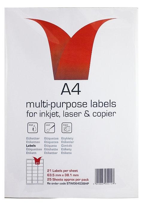 Multi Purpose SA Labels  21 Labels Per Sheet