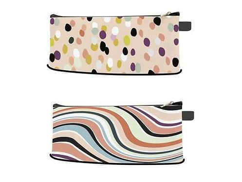 Spot And Swirl Design Pencil Case....ASSORTED