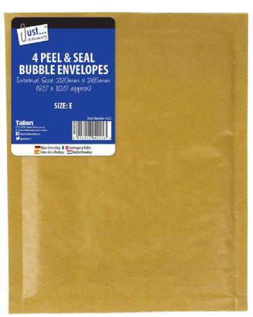 Just Stationery 4pk Bubble Padded Envelopes Size E