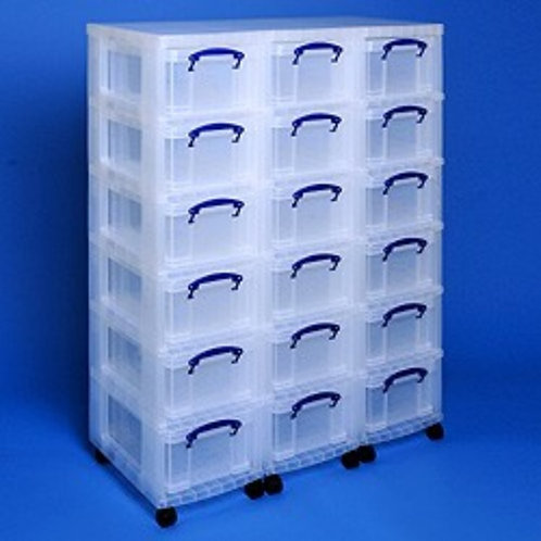 Storage tower triple with 18x9 litre Really Useful Boxes