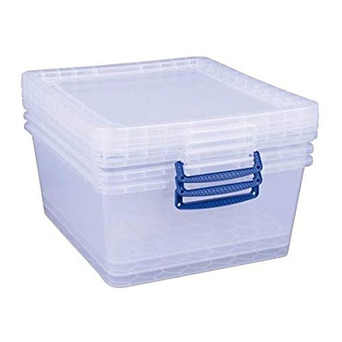 62 litre nestable Really Useful Box (3 pack) (clear)