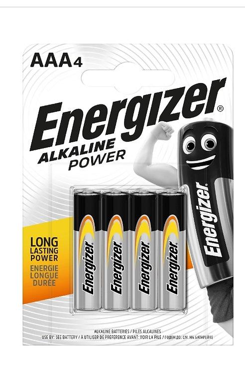 Energizer Alkaline Power AAA Batteries 4pk