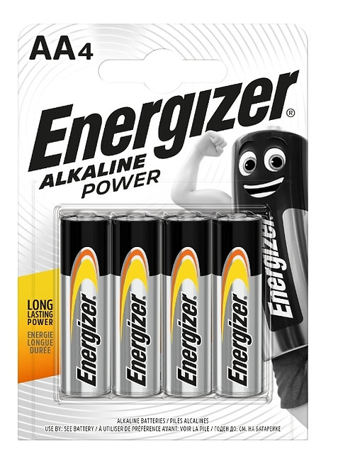 Energizer Alkaline Power AA Batteries 4pk