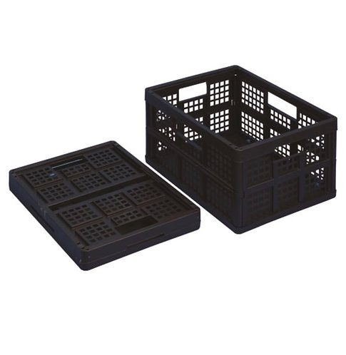 32 litre folding Really Useful Box (solid black)