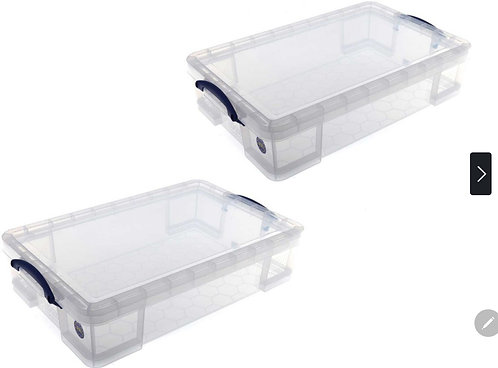 Really Useful Boxes 33 Litre Under bed, 2 pack