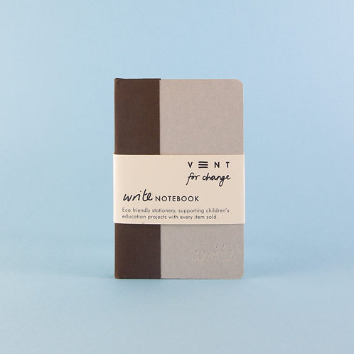 Sustainable A6 Write Notebook. Vent for Change