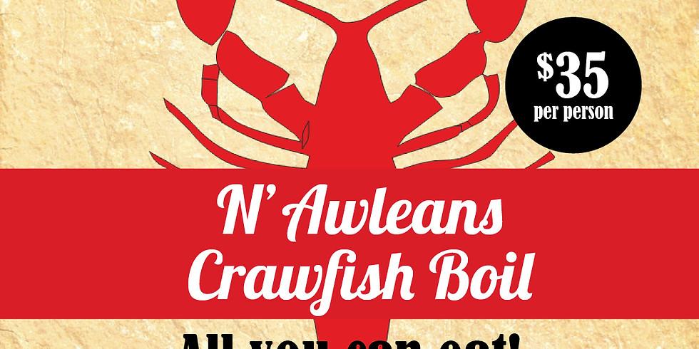 Traditional N'Awleans Crawfish Boil