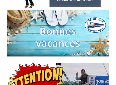 Dernier VC'S de la saison - Vendredi 05 juillet - Pot avec Benoît Hochart - Vendredi 12 juillet 18h