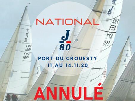 Annulation du National J80