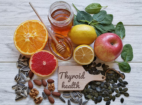 Foods for healthy thyroid. Variety of na