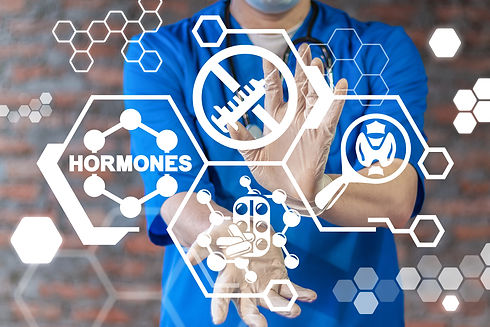 Hormones Medical Concept. Hormone Health