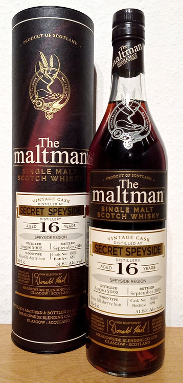 Secret Speyside 2002 The Maltman 16 Years old First Fill Sherry Cask 900145