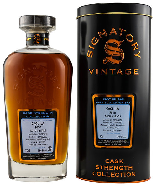 Caol Ila 2010 Signatory Vintage 9 years old Refill Sherry Butt 316637