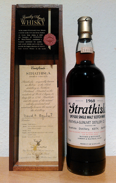 Strathisla 1960 Bottled 2010 by Gordon & MacPhail 50 Years old