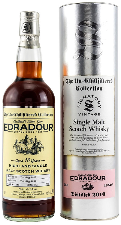 Edradour 2010 Signatory Vintage Sherry Butt 10 Years old Cask 116
