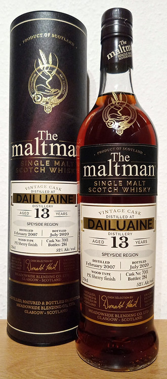 Dailuaine 2007 The Maltman 13 Years old PX Sherry Finish Cask 7001