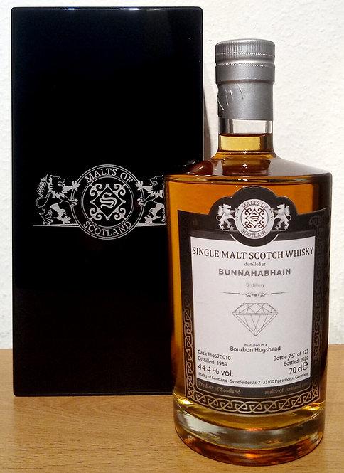 Bunnahabhain 1989 Malts of Scotland 30 Years old Bourbon Hogshead Cask 20010