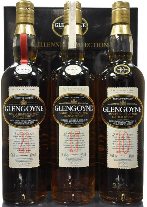 Glengoyne 10/17/21 Years old Millennium Selection Pack old bottlings 3 x 0,7L