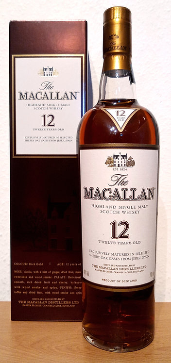 Macallan 12 Years old Sherry Oak Casks old Distillery Bottling 40% /700ml