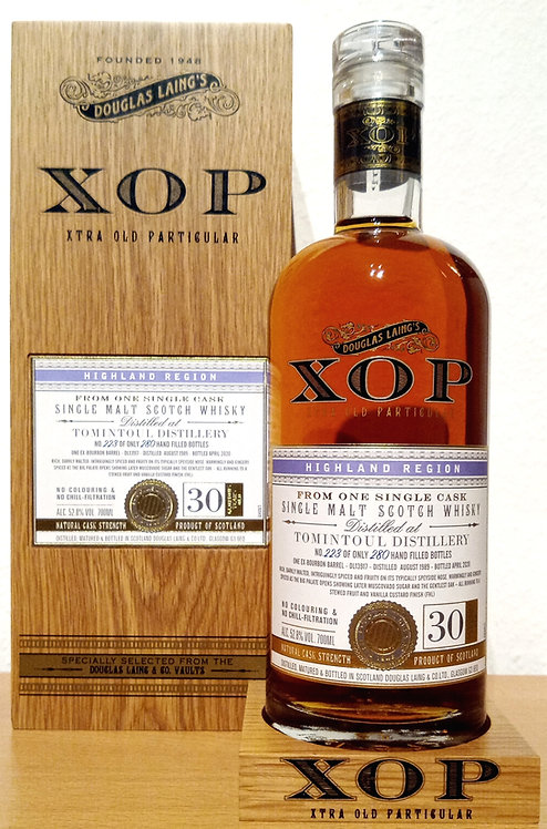 Tomintoul 1989 Douglas Laing XOP - Xtra Old Bourbon Barrel 30 years old