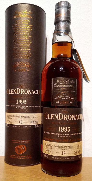 Glendronach 1995 Cask 1732 PX Sherry Puncheon 18 Years old