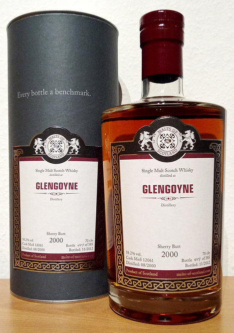 Glengoyne 2000 Malts of Scotland 12 Years old Sherry Butt Cask 12061