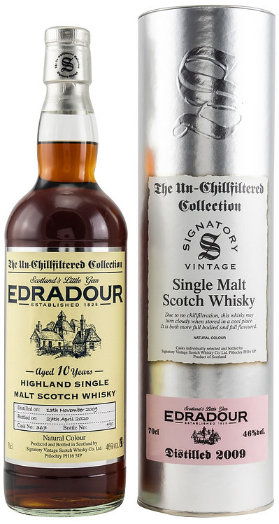 Edradour 2009 Signatory Vintage Sherry Butt 10 Years old Cask 367