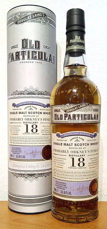 Probably Orkney's Finest 2002 Douglas Laing Old Particular 18 Years DL14563