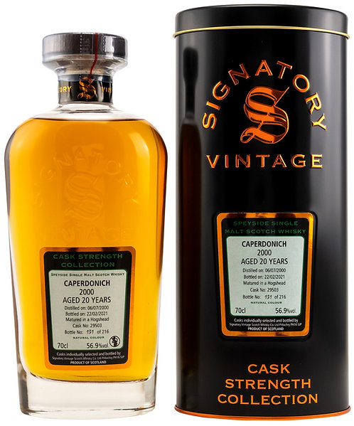 Caperdonich 2000 Signatory Vintage 20 years old Cask 29503 Strength Collection