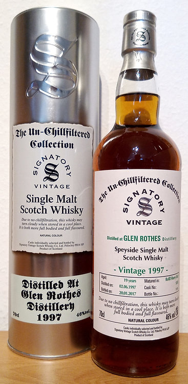 Glenrothes 1997 Signatory Vintage Refill Sherry Butt 19 Years old Cask 9258