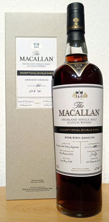 Macallan 2002 Exceptional Single Cask No. 2340/04 European Oak Sherry Hogshead