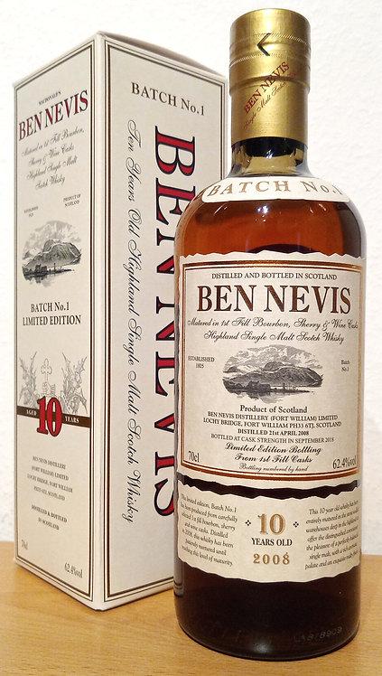 Ben Nevis 10 years Batch 1 Cask Strength 1st Fill Bourbon, Sherry and Wine Cask