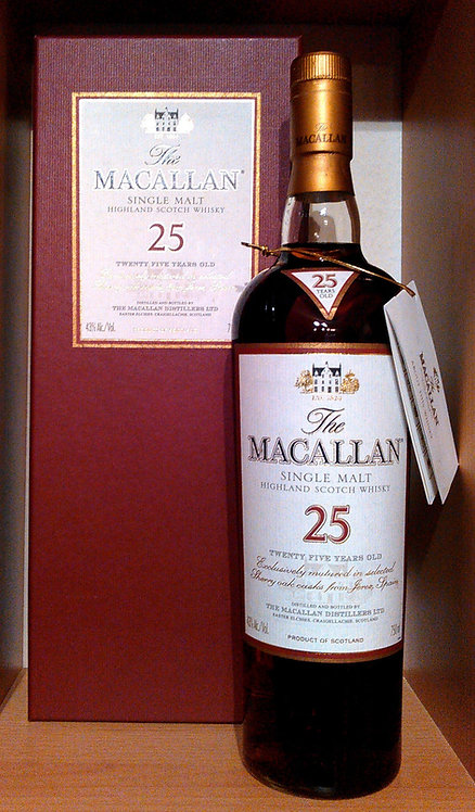 Macallan 25 Years Sherry Oak Cask in exklusiver Box US Version