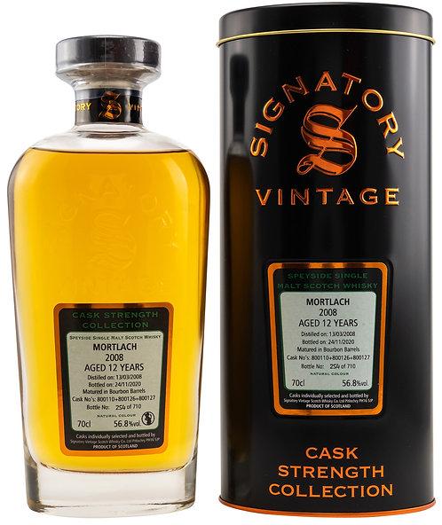 Mortlach 2008 Signatory Vintage Bourbon Barrels 12 Years old Cask 800110